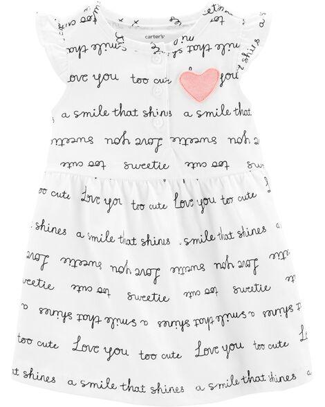 Slogan Jersey Dress