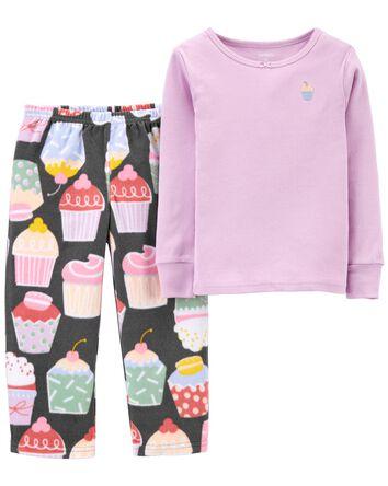 Pyjama 2 pièces en coton et molleto...