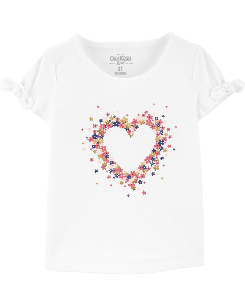 T-shirt à cœur et manches nouées, , hi-res
