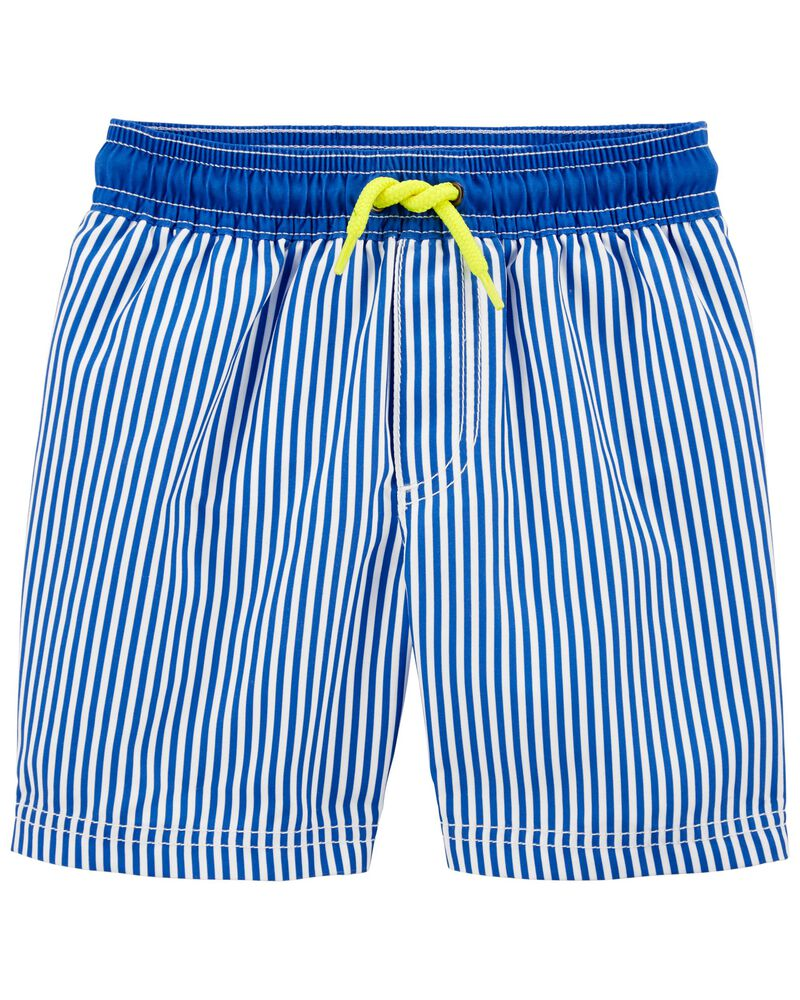 Striped Swim Trunks, , hi-res