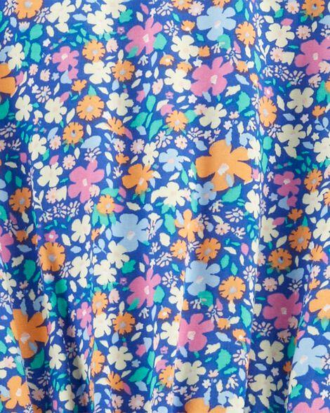Robe froncée fleurie