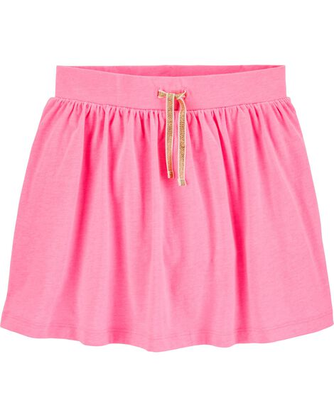 Jupe-short rose fluo