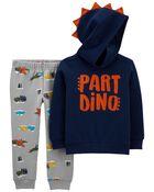 Ensemble 2 pièces chandail à dinosaure et pantalon de jogging , , hi-res