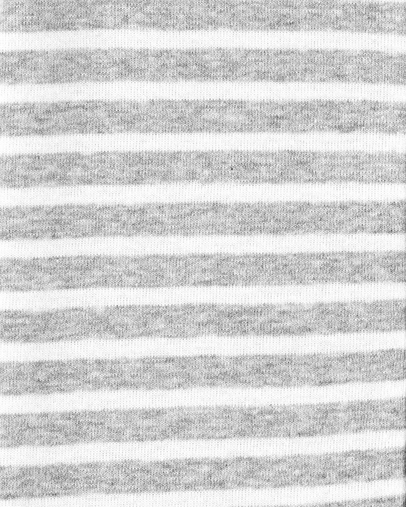 1-Piece Striped 100% Snug Fit Cotton Romper PJs, , hi-res