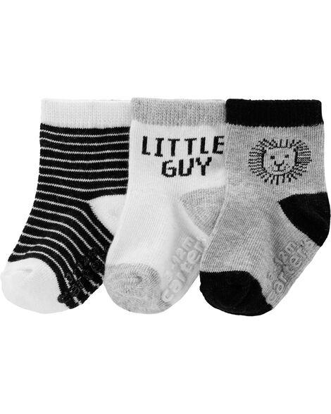 3-Pack Lion Crew Socks