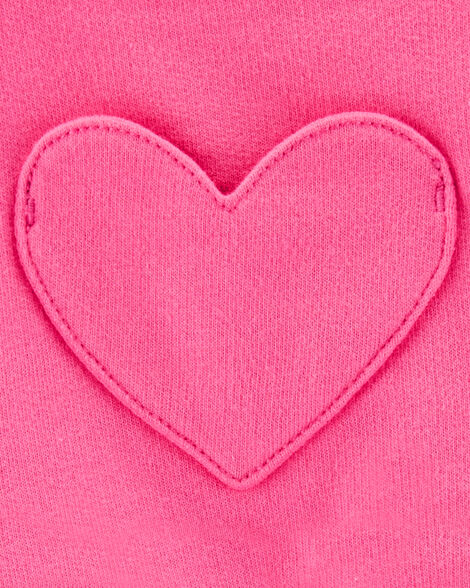2-Piece Slogan Tee & Heart Shortalls Set