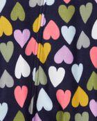 1-Piece Hearts Fleece Footie PJs, , hi-res