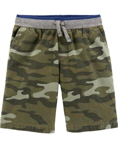Camo Pull-On Dock Shorts
