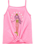 Glitter Mermaid Tie-Front Jersey Tank, , hi-res