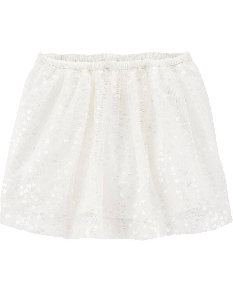 Sequin Tulle Skirt, , hi-res