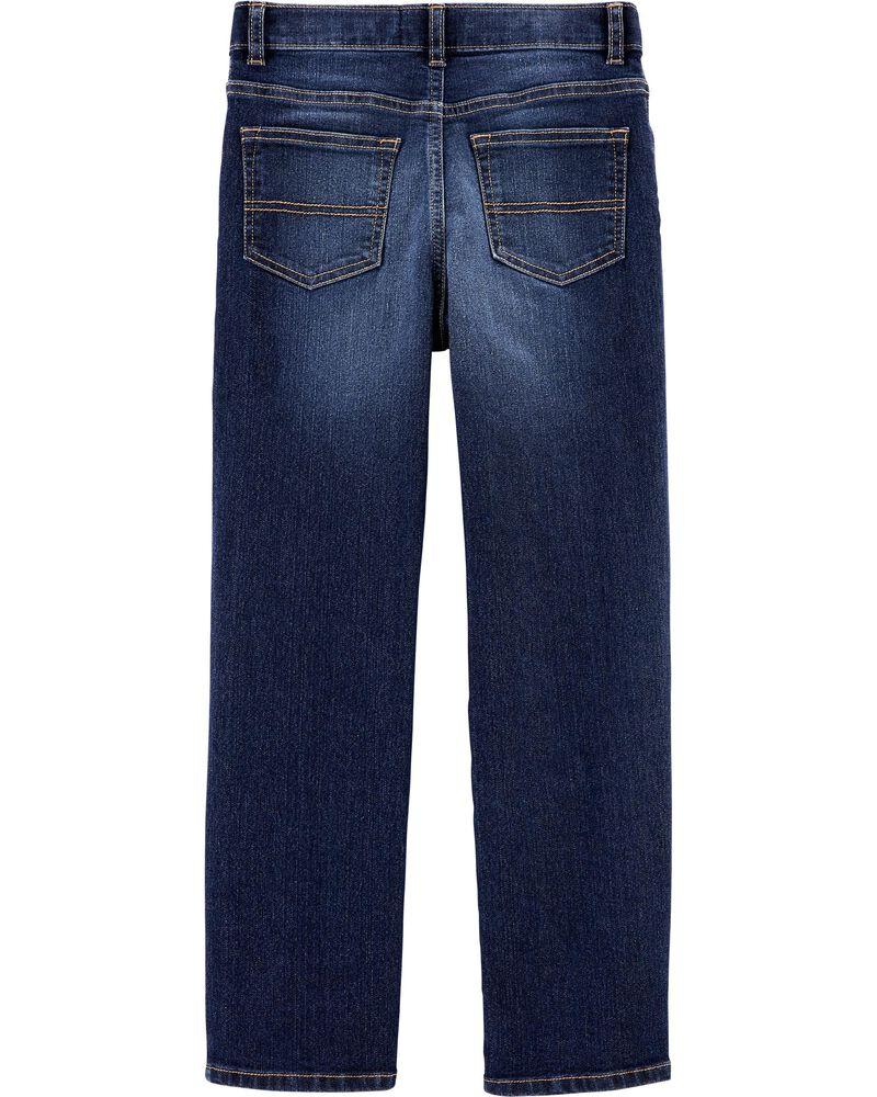 Jeans de coupe ajustée classique - dévalave moyen, , hi-res