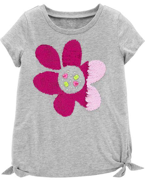 Flip Sequin Flower Jersey Tee