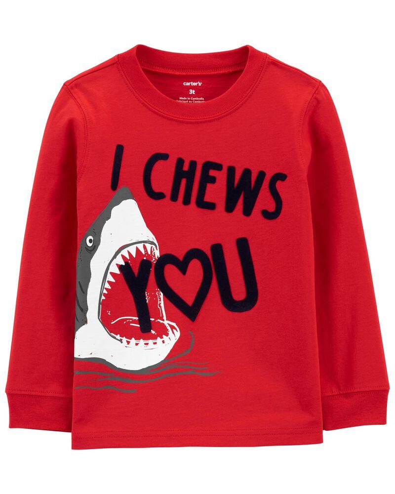 T-shirt en jersey I heart chew, , hi-res