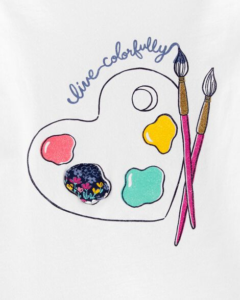 Live Colorfully Paint Bow Back Tee