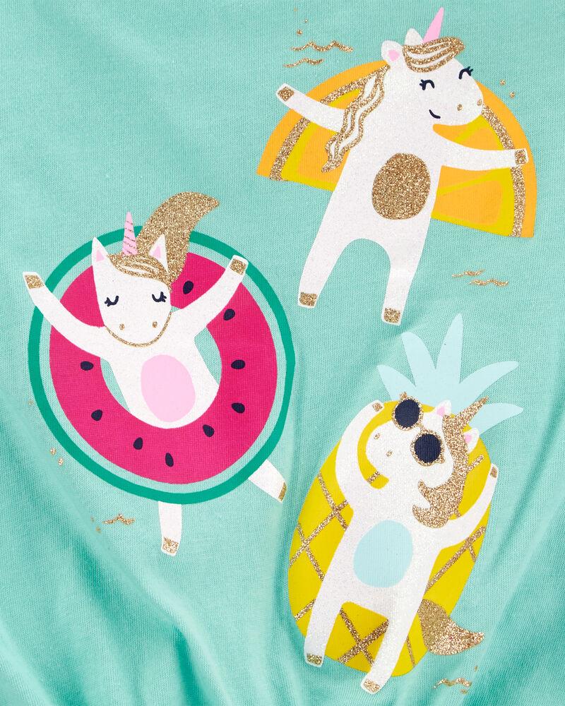 Débardeur en jersey à nœud devant avec licorne et fruits, , hi-res