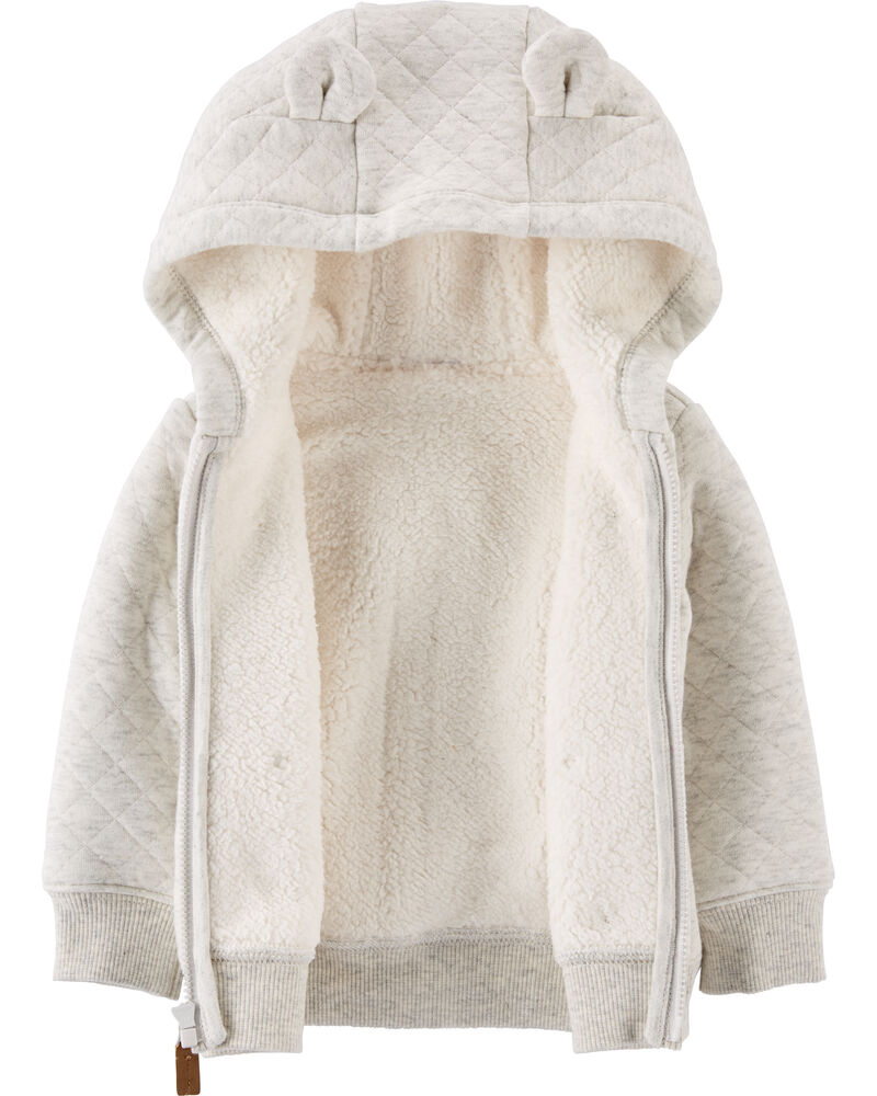 Hooded Sherpa-Lined Jacket, , hi-res