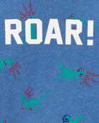 T-shirt à imprimé de dinosaure qui brille dans le noir, , hi-res