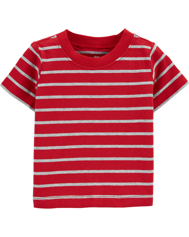 2-Piece Striped Tee & Firetruck Shortall Set, , hi-res
