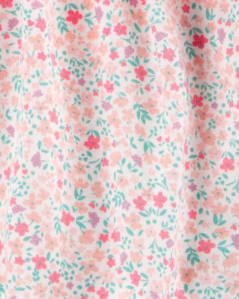 2-Piece Floral Bodysuit Dress & Cardigan Set