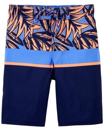 Tropical Palms Swim Trunks