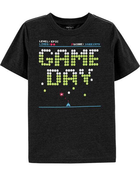 T-shirt en jersey doux motif jeux vidéo