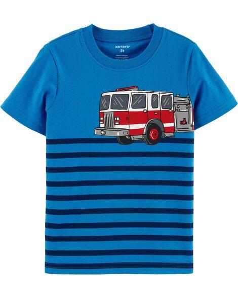 T-shirt en jersey à camion d'incendie