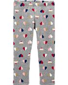 Heart Cozy Fleece Leggings, , hi-res