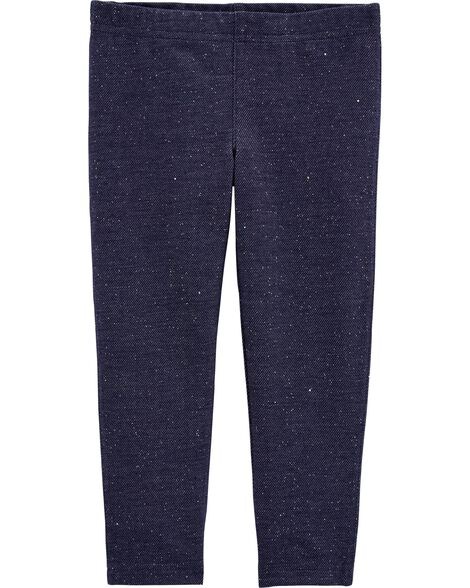 Legging en tricot de denim scintillant