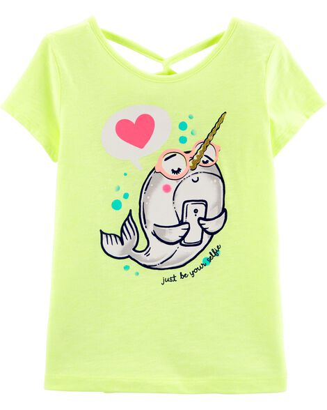 Neon Narwhal Slub Jersey Top