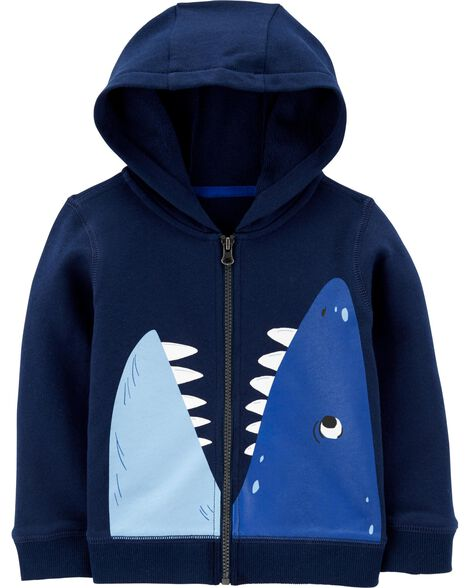 Shark Zip-Up French Terry Hoodie