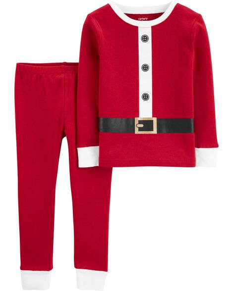 2-Piece Santa Suit Snug Fit Cotton PJs