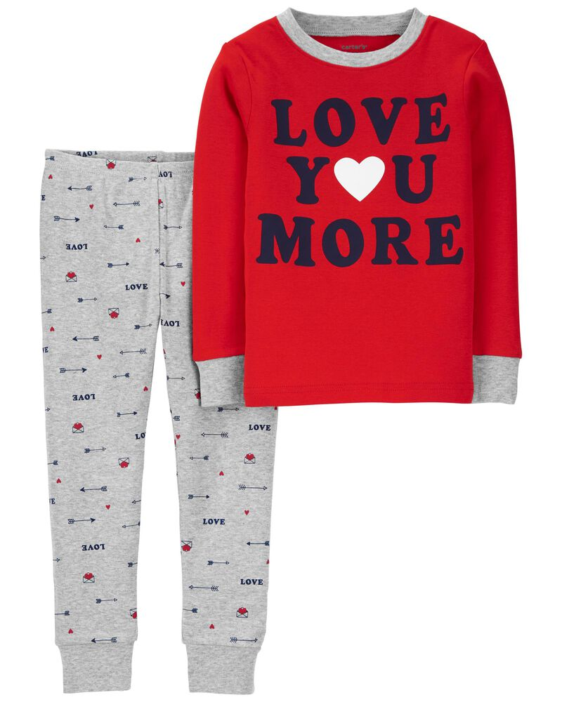 2-Piece Valentine's 100% Snug Fit Cotton PJs, , hi-res