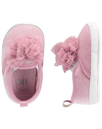 Pom Pom Slip-On Baby Shoes