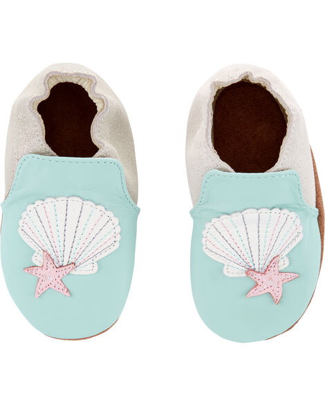 Chaussures à semelle souple coquillage
