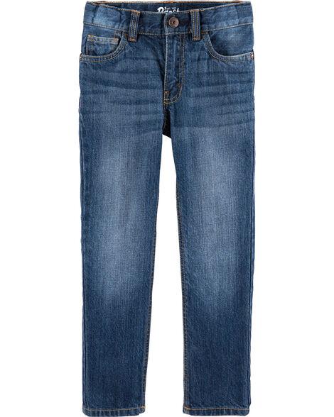 Jeans droit - délavage ancre foncé