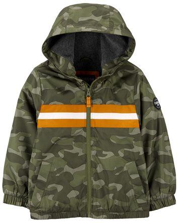 Veste à rayures camouflage doublée...