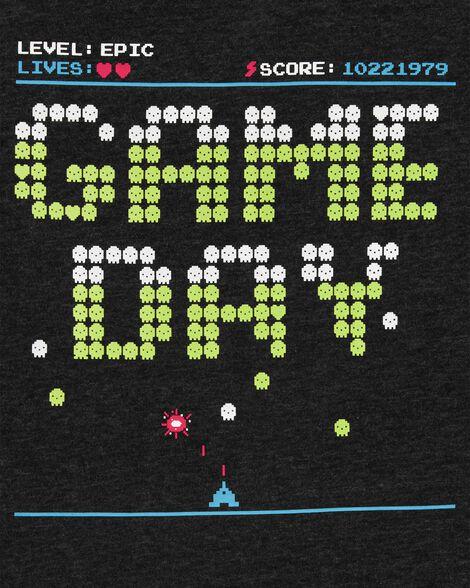 Video Game Snow Yarn Jersey Tee