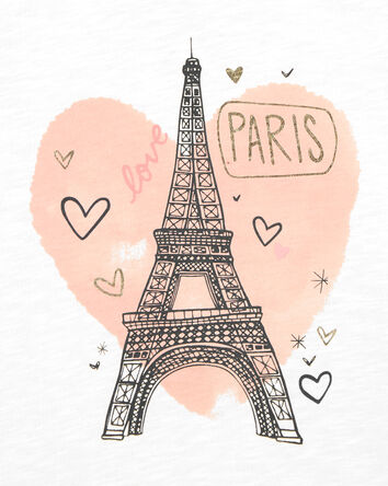 Slub Jersey Paris Hoodie