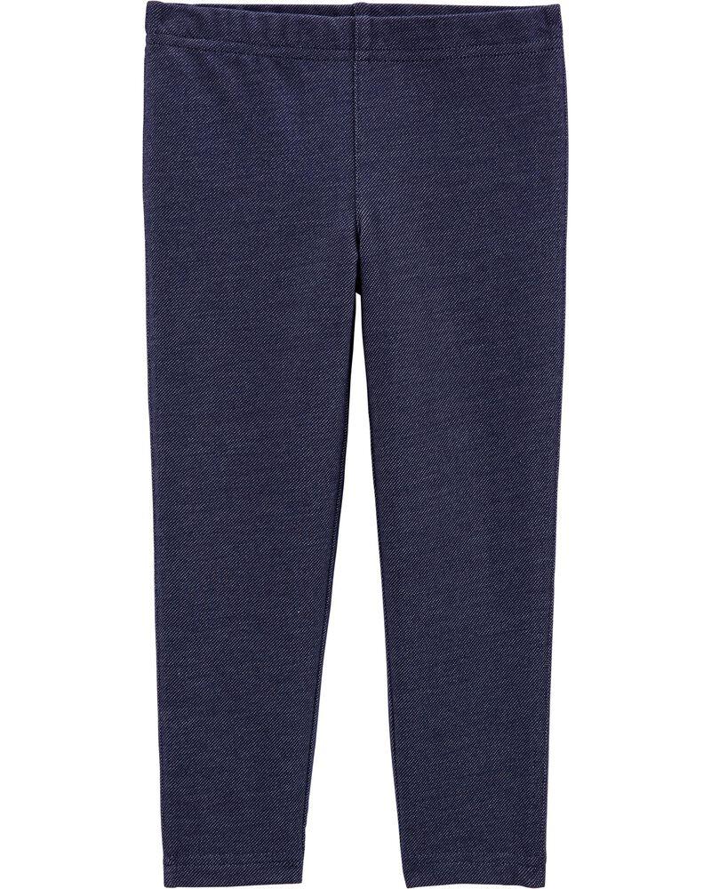 Knit Denim Leggings, , hi-res