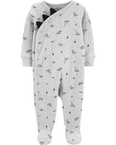 Dinosaur Side-Snap Cotton Sleep & Play