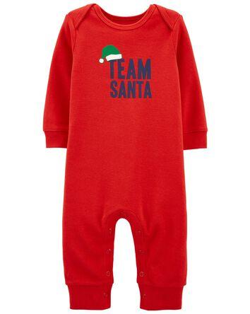 Santa Snap-Up Footless Sleep & Play