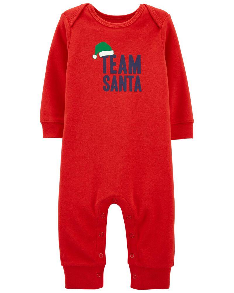 Santa Snap-Up Footless Sleep & Play, , hi-res