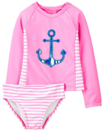 Anchor Stripe Rashguard Set