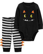 2-Piece Halloween Monster Bodysuit Pant Set, , hi-res
