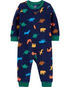 1-Piece Dinosaur Fleece Footless PJs, , hi-res