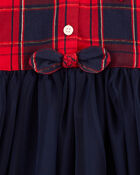Robe en tull à motif écossais scintillant, , hi-res
