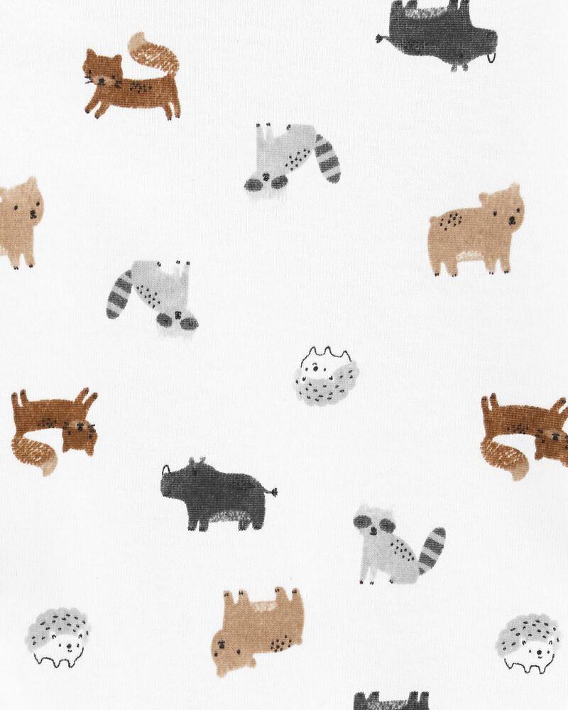 Ensemble 3 pièces cache-couche et pantalon à imprimé animalier, , hi-res