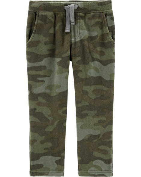 Pantalon à enfiler en molleton camouflage