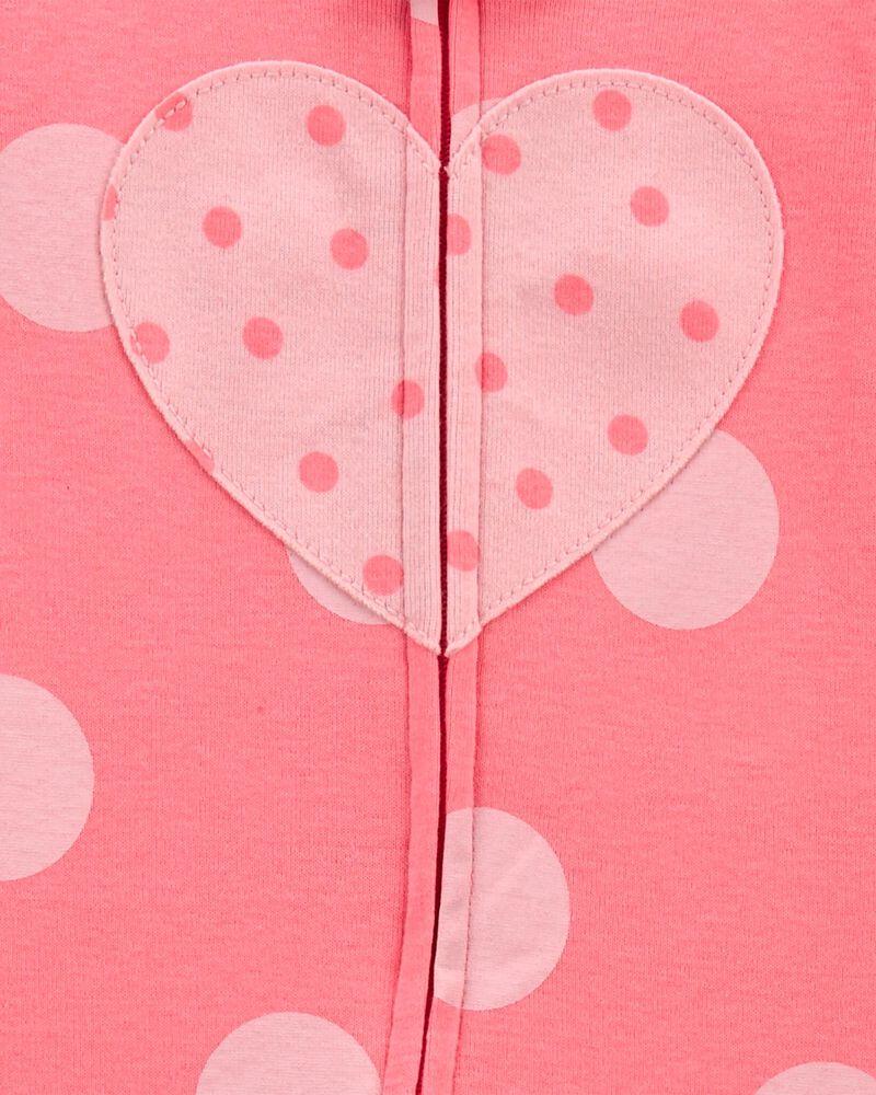 1-Piece Heart 100% Snug Fit Cotton Footie PJs, , hi-res