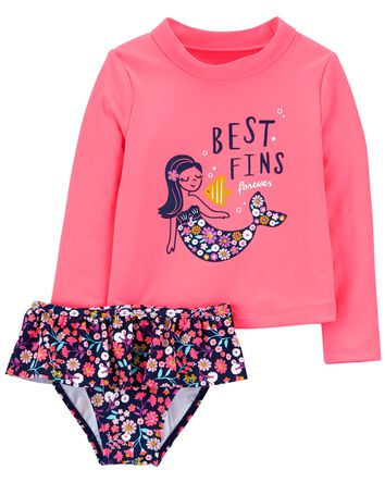 Mermaid 2-Piece Rashguard Set